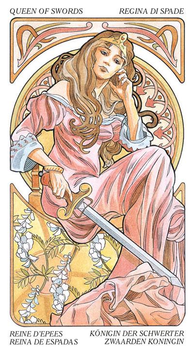 Эта Королева Мечей из колоды Таро АртНуво