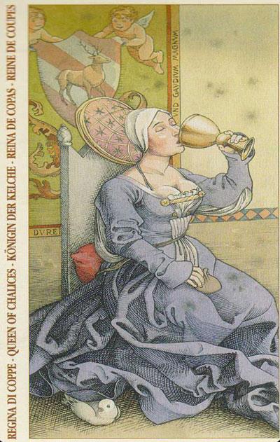В Таро Дюрера Королева Жезлов выглядит вот так.