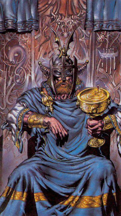Король Чаш из колоды Кельтское Таро