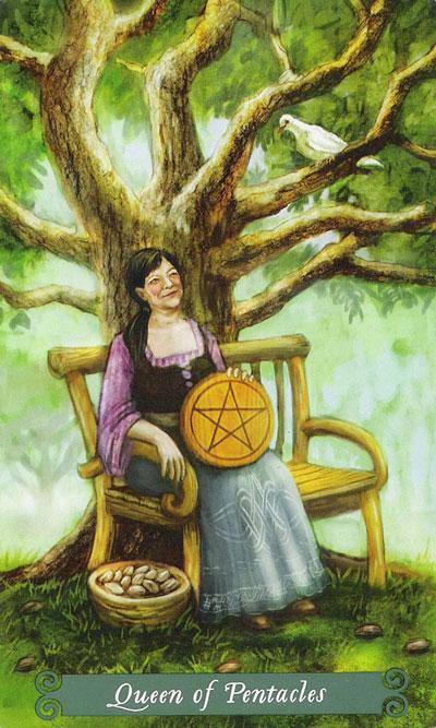 Королева Пентаклей в Таро Зеленой ведьмы