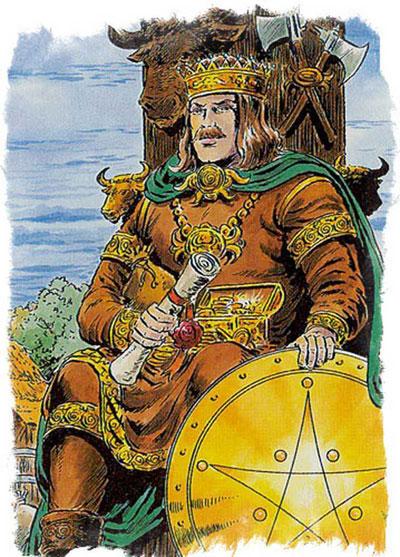 Король Пентаклей в Таро