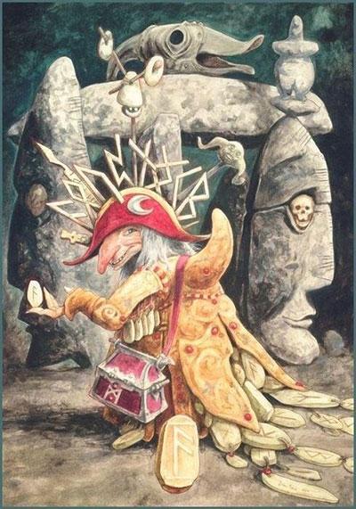Руническая картина Ансуз