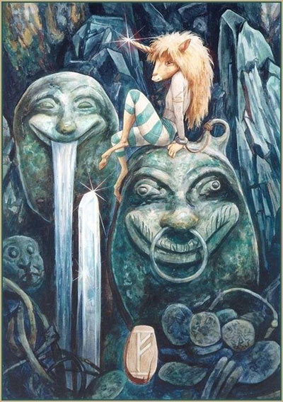 руническиая картина Феху